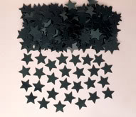 Black Stardust Table Confetti