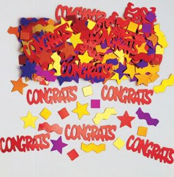 Metallic Multi Congratulations Table Confetti