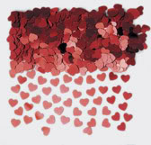 Sparkle Hearts Red Table Confetti