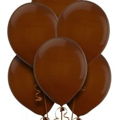 "Pack of 10 Pearlised brown 11"" Helium Filled latex balloons"