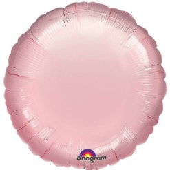 Metallic Pearl Pastel Pink Helium Filled Foil Balloon