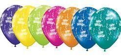 "10 Birthday Round Fantasy Helium Filled 11""latex Party Party Balloons"