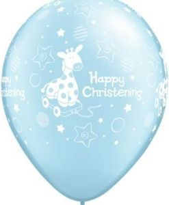 "10 Christening Giraffe Blue Helium Filled 11""latex Party Party Balloons"