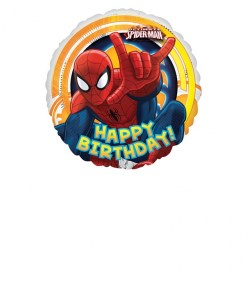 spiderman ultimate happy birthday Helium Filled Foil Balloon