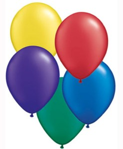 "10 Treated Pearl Radiant Assorted 11"" Helium Filled Latex Balloons"