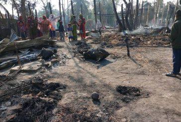 सुनसरीमा भीषण आगलागी, ७० घर जलेर नष्ट