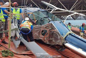 दुर्घटनाग्रस्त सिम्रिक एयरको हेलिकप्टर अस्पतालको छतबाट तल झारियो