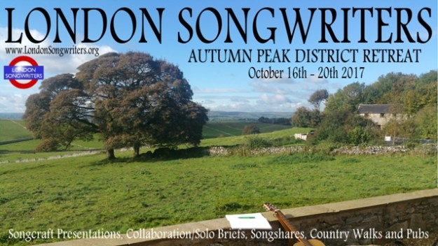 London Songwriters Autumn Peak District Songwriting Retreat 2017
