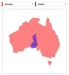 Comparing Australia and Finland