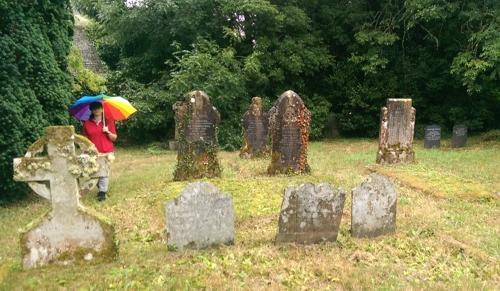 Lamorran churchyard, Cornwall