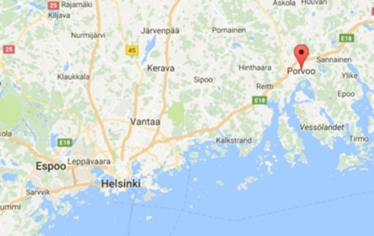map - Porvoo Finland