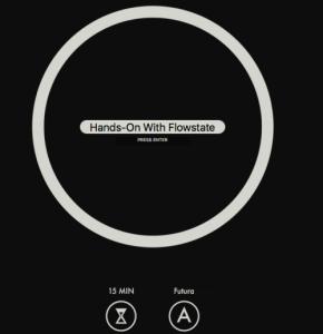 La schermata principale di flowstate