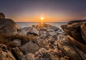 Il promontorio di Mazunte sull'oceano pacifico al tramonto