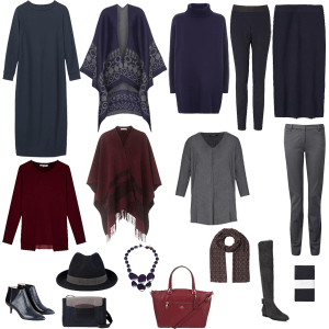 Autumn smart casual capsule wardrobe