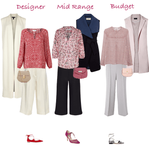 How to wear, culottes, sleeveless jacket, ghillie shoes