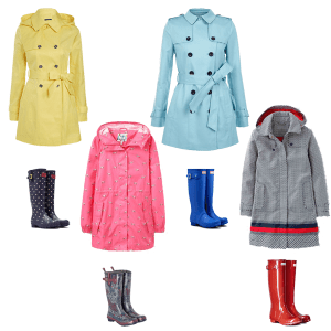 Bright rainwear to suit your colouring