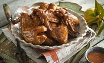 Recipe 3, Glazed Garlic & Ginger Chicken Wings