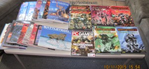 More books for Battletech and Mechwarrior.  And a magazine.