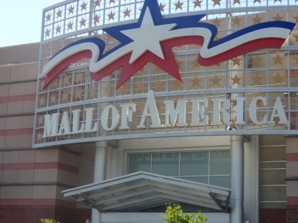 Generic photo of the entrance to the Mall of America, which is not in Minneapolis (but it is close by and we went there).