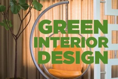 green interior design book cover
