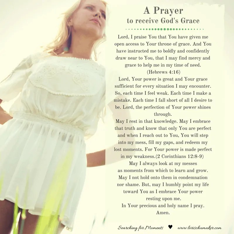 A Prayer to Receive God's Grace {Moments of Hope Link-Up}