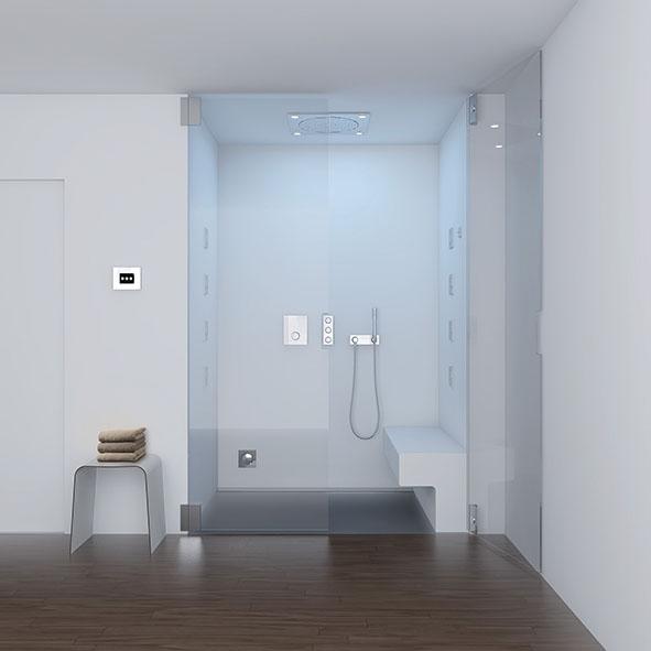Des salles de bains de plus en plus high tech lorraine for Miroir salle de bain high tech