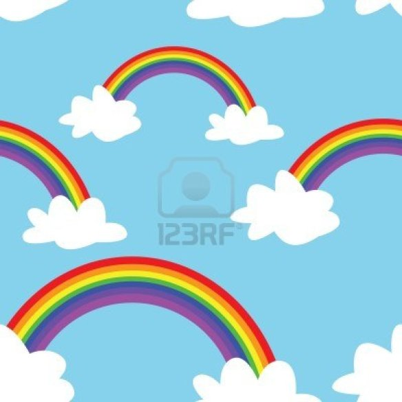 15844272-a-seamless-pattern-of-rainbows-and-clouds-on-a-blue-background