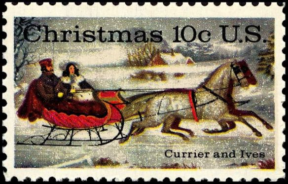 Reproduction of a Currier and Ives Stamp
