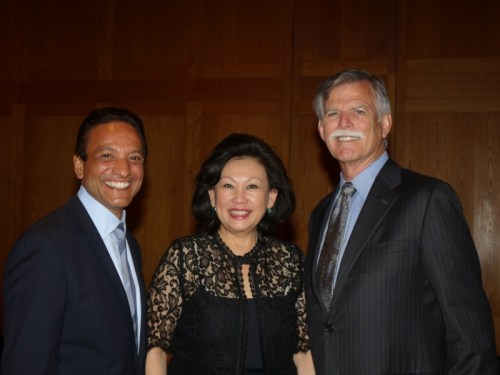 Cerritos Mayor port tem Naresh Solanki, Councilwoman Carol Chen and former Cerritos Mayor Bruce Barrows. Solanki and Chen voted to close the Cerritos Sheriff's station at a Council meeting and sources have told HMG-CN that Barrows is in favor of the closing. Photo courtesy trojancandy.com