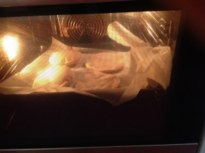 pan de pita hinchandose
