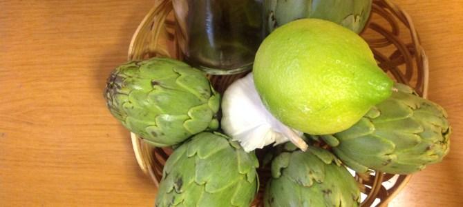 Receta: Alcachofas  o alcauciles con jamón