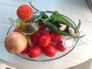 Ingredientes para tomate frito