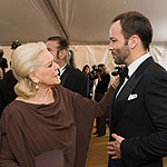Lauren Bacall y Tom Ford