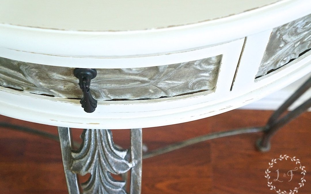 Side Table Makeover with Fusion Metallics