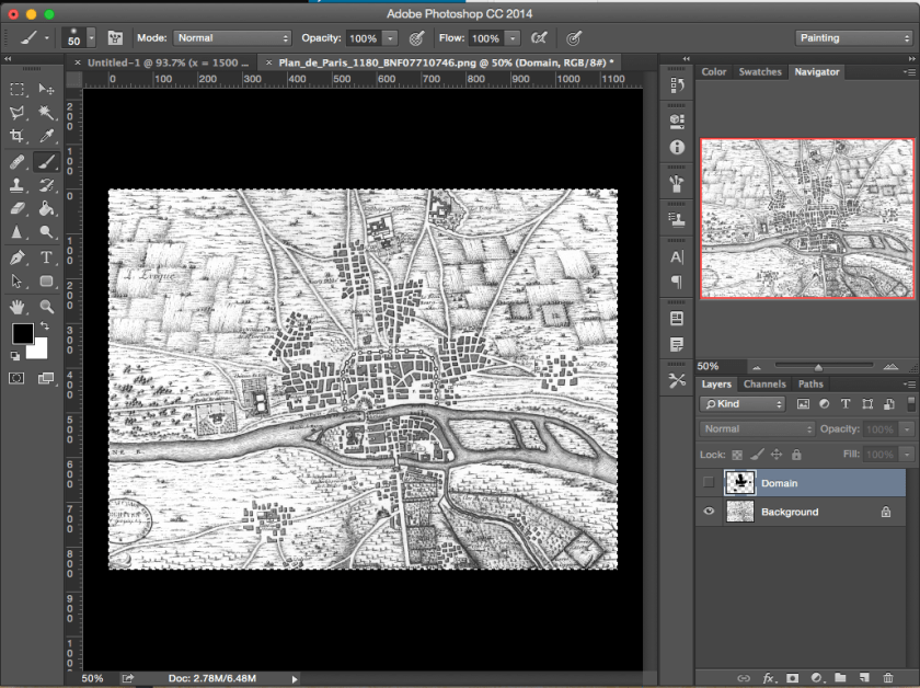 Surface area of an irregular shape in Photoshop: Example Village