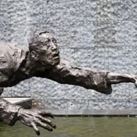 A sculpture at the Nanjing Massacre Museum. Photo by Ryan McLaughlin