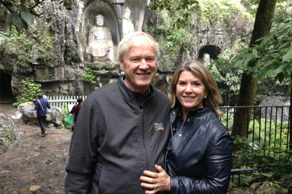 Chris and Kathleen Matthews in Hangzhou, China