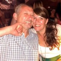 Natasha Phillips-Mason with her husband Neil before his tragic death. Photo from the Daily Telegraph.