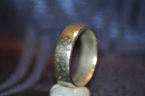 The Silver Ring after Electrolysis Cleaning