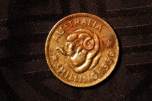 1956 Australian Silver Shilling