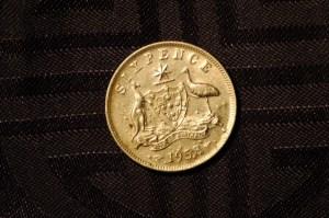 1958 Silver Australian Six Pence