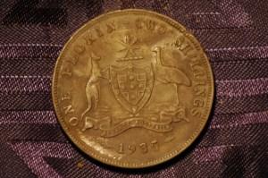 1935 Siver Australian Florin