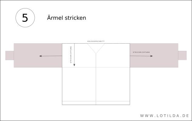 Einfache Strickjacke TOP DOWN im Patentmuster