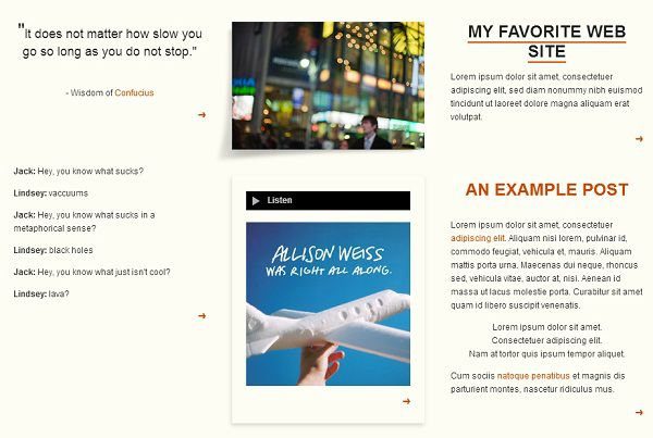 Paper Stacks free tumblr theme