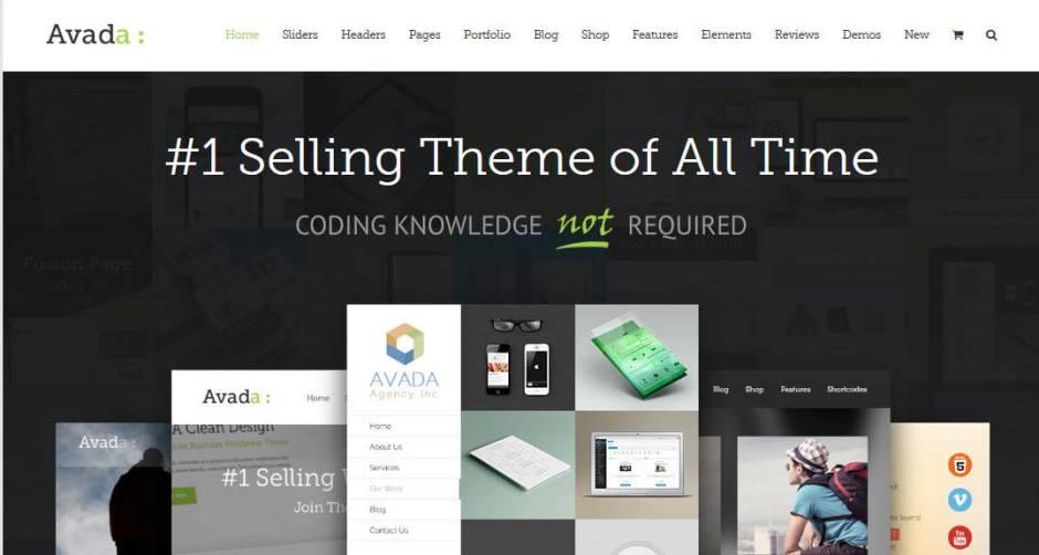 Avada SEO friendly wordpress theme