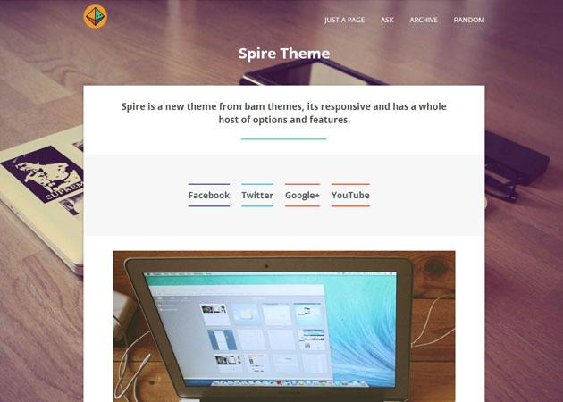 Spire free tumblr theme
