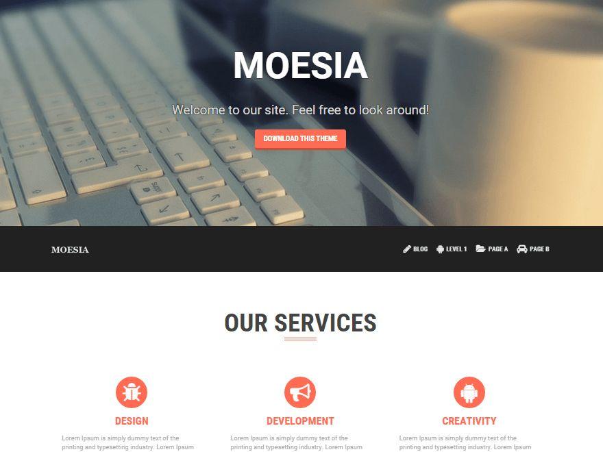 Moesia Free WordPress Business Services Theme