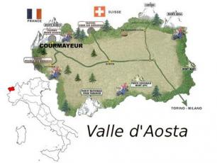 map of aosta valley