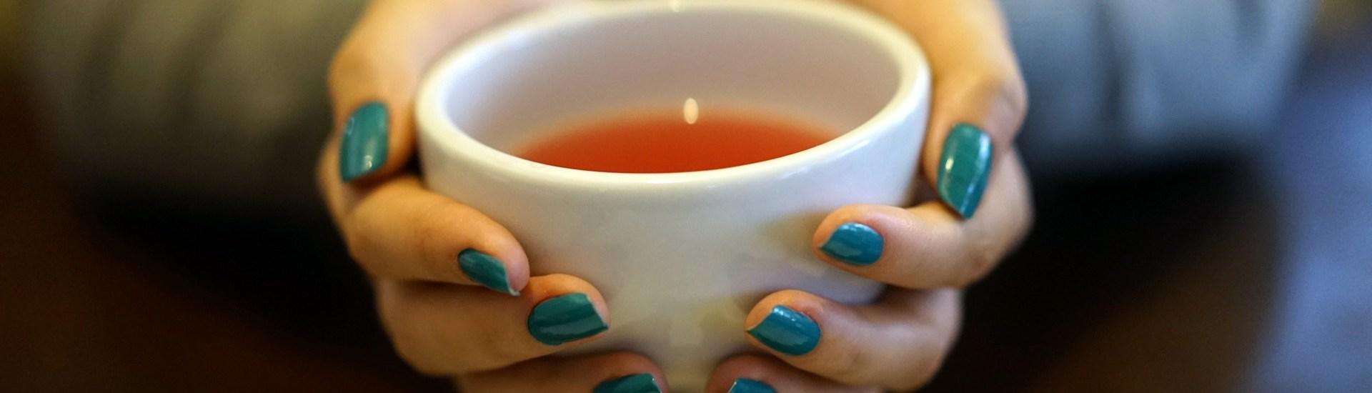 tea in hand