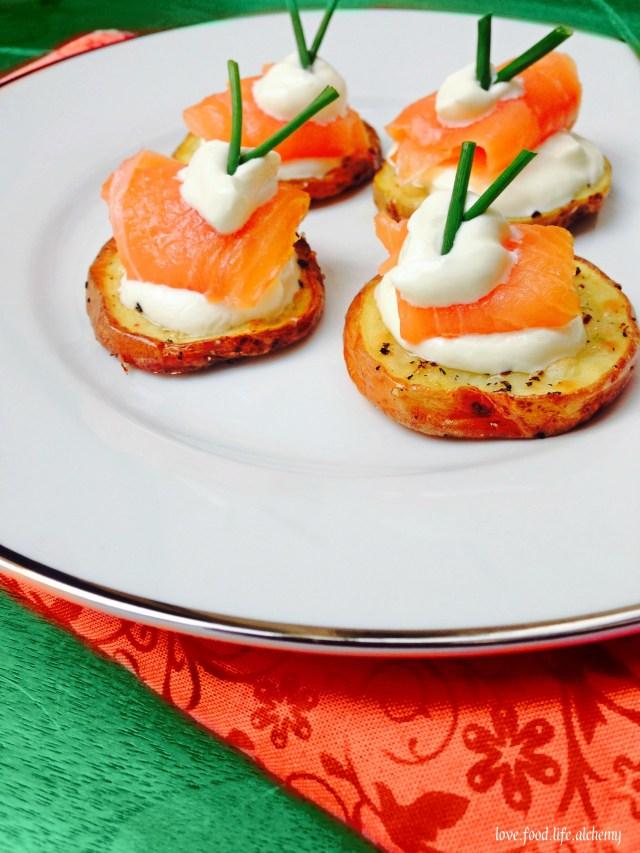 potato and salmon